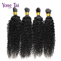 Malaysian kinky curly virgin hair bulk for braiding human ...