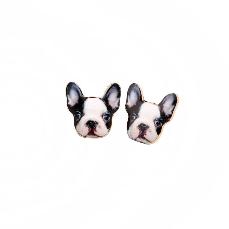 New Fashion Vintage Animal French Bulldog Earrings for