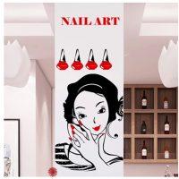 Nail Salon Sticker Spa Decal Posters Vinyl Wall Art Decals ...