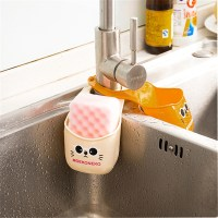 Kitchen Sponge Holder Cheap PVC Cartoon Cat Faucet Hanging