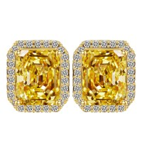 Aliexpress.com : Buy Big Square Citrine Crystal Stud ...