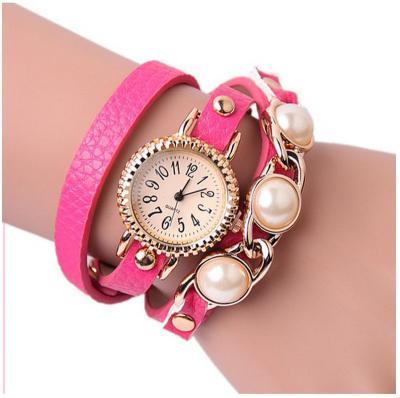 Gnova Platinum Fashion Luxury Brand New Women Rhinestone Gold Bracelet Watch Pu Leather Ladies Quartz Casual Wristwatch