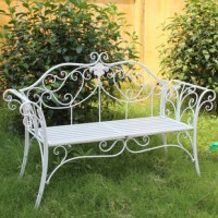 Country style wrought iron balcony Double Double chair ...