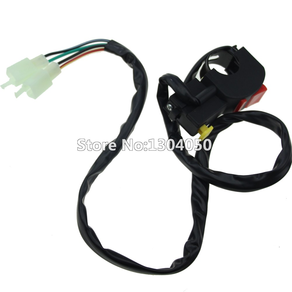 4 Wire Kill Start Switch Button 50 70 90cc 110cc 125cc 150 Dirt How To A On Atv Starter With And Stop For 50cc 70cc 150cc 200cc 250cc Engine Bikes Pit Fit Pro Bike Trail