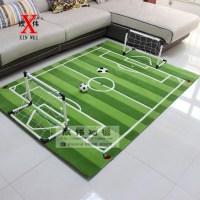 Acrylic Soccer Field for Children Living Room Carpet ...