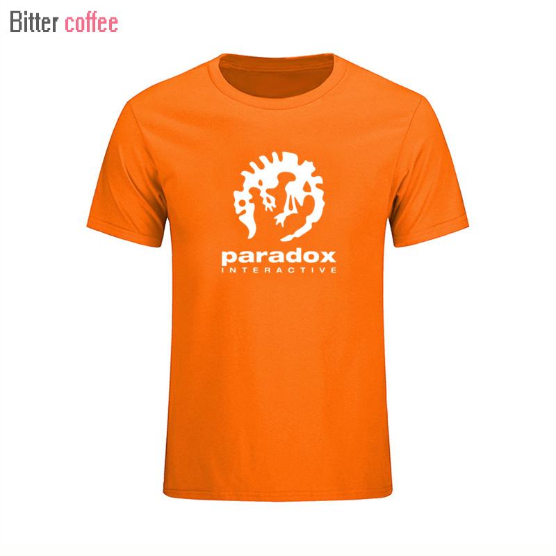 8c4b22dac89f2 2017 paradoja interactivo mens ropa deportiva de moda manga corta Camiseta  jugador del juego o-cuello UE tamaño negro blanco camiseta
