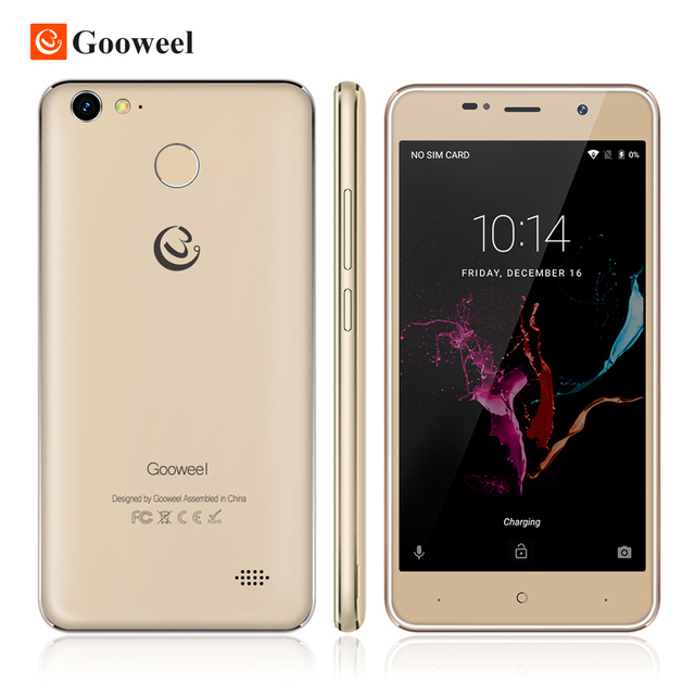 Gooweel M15 4G mobile phone Fingerprint MTK6737 Quad core 64bit 5.0 inch IPS Android 6.0 smartphone 2GB 16GB Cell phone 8.0MP