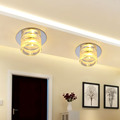 Modern Round Ceiling Led Light Fixtures Bedroom Aisle Stair Porch Lamp Crystal Lampshade Decor Home Lighting