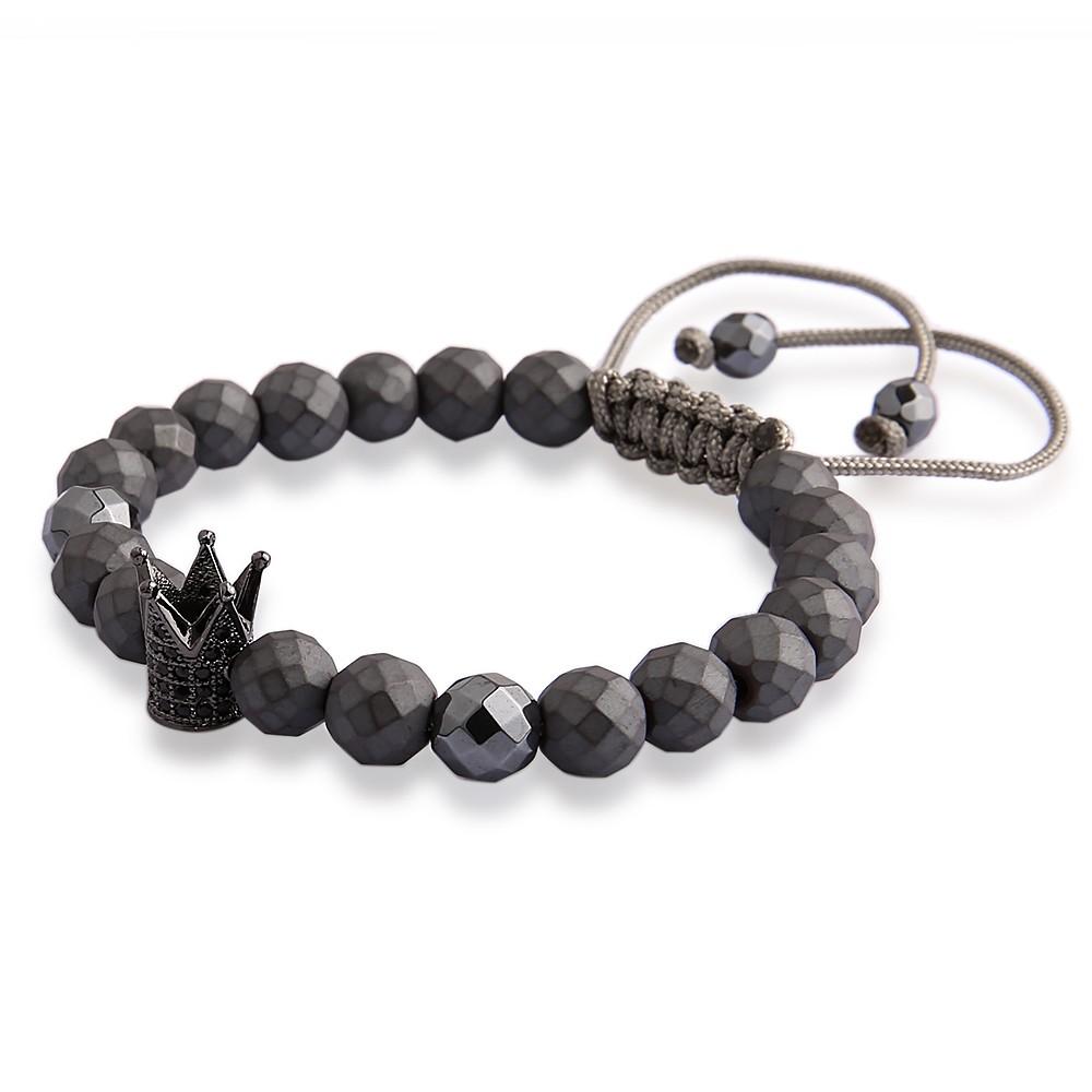 160e88032 V YA Crown pulseras para hombres mujeres joyería de lujo pulsera de ...