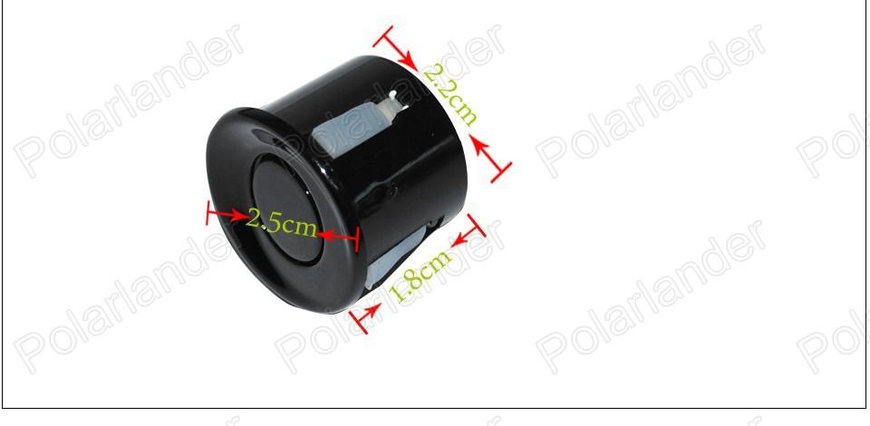 Rear 4 Point Reversing Parking Sensor Kit Buzzer Alarm Ultrasonic For Ford 12V