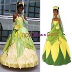 Tiana Princess Costume Dresses