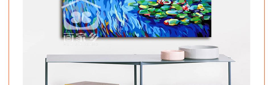 ∞Colorear por números Monet pintura lirio de agua pintura digital ...