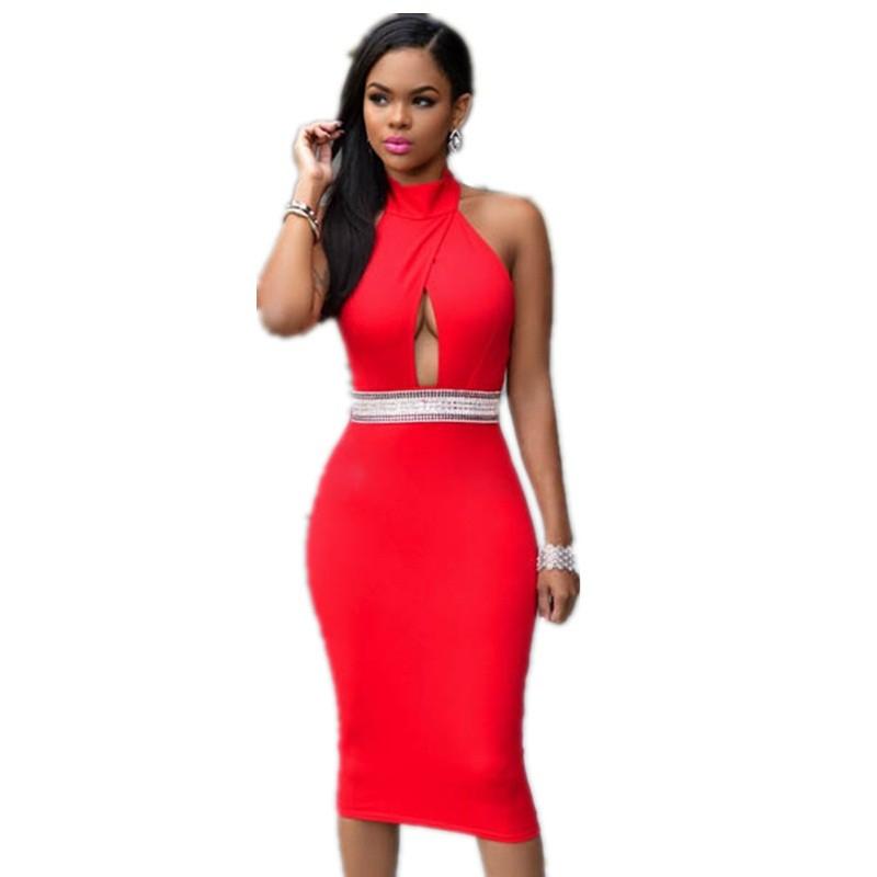 e39a19a8d94 -O decote 2016 Mais Novo Vermelho e Preto S-XXL OL Senhoras Escritório  Trabalho Do Partido Moda Do Vestuário Das Senhoras Casuais L36100-2