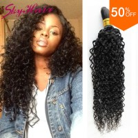 Indian virgin hair kinky curly human braiding hair bulk 1 ...