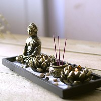 Buddha Zen Buddha Incense Candle Ornaments Incense Burner ...