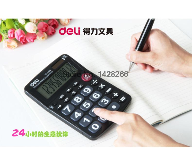 ②2016 LED calculadora electrónica solar dual con pantalla grande ...