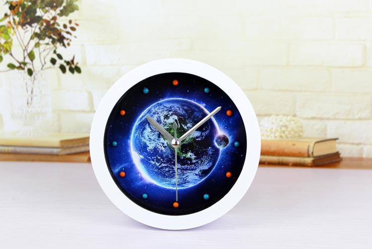264977bc31c Nome do produto Original  mito Praça Blue Earth 3D estereoscópico relógio  pequeno alarmedimensõesdiâmetro de cerca de 12 CMpesopesando cerca de ...