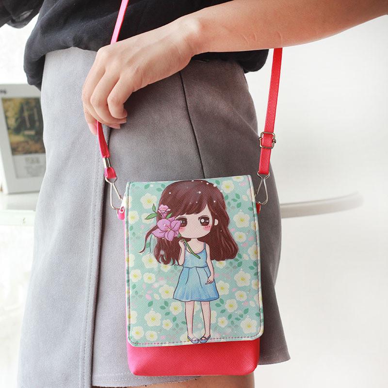7a32a5eb3e3e11 mode casual preppy style PU en cuir bébé filles sacs à main de femmes  d épaule sac messenger sacs enfants sacs d école de bande dessinée  caractère ...