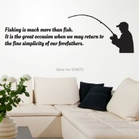 FISHING Sport Occasion Silhouette Wall Art Sticker Decal ...