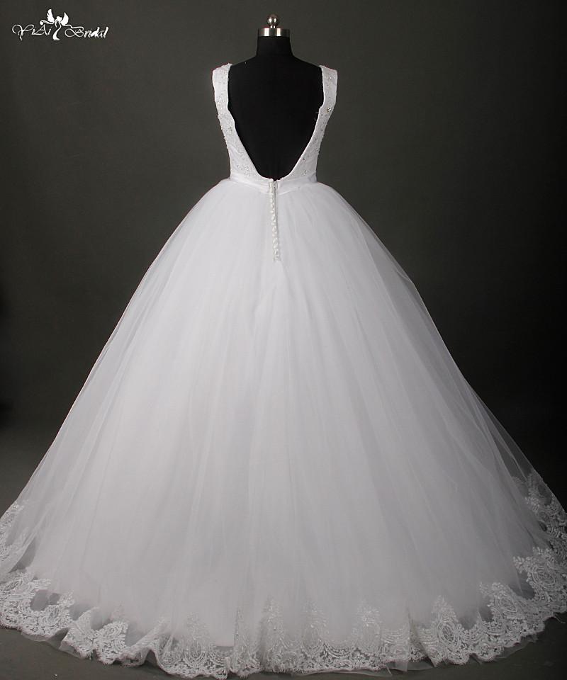 ჱVestido de Noiva princesa vestido backless Vestidos de novia con ...