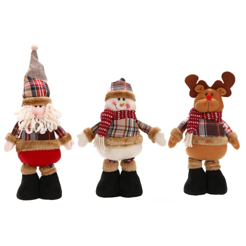 1 Pcs Hot Sale Santa Claus Snowman Reindeer Doll Christmas Decoration Xmas Tree Hanging Ornaments Pendant Best Gift