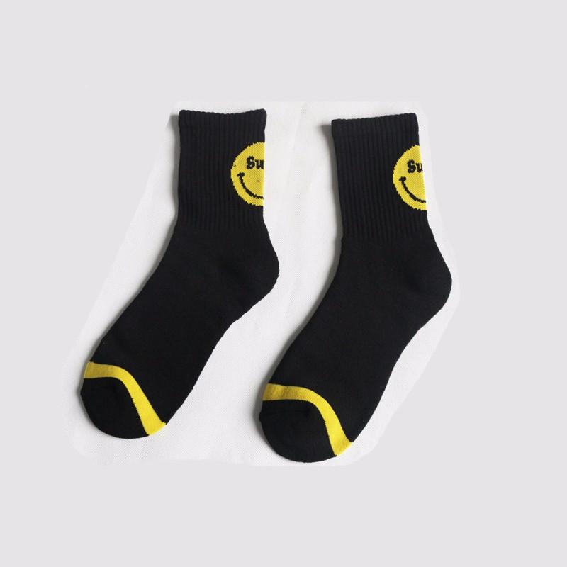 Moda coreana Harajuku emoji sonriente Cara calcetín del arte del ...
