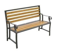 American country wrought iron park bench Double chair ...
