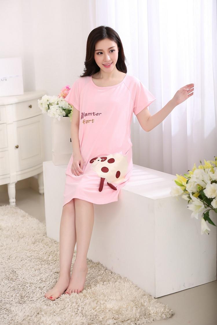 ᗑ】Nuevas camisetas de maternidad del verano punto manga corta ...