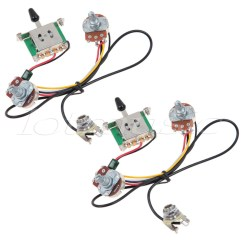 4 Way Electrical Switch Wiring Diagram Les Paul Traditional 2010 2sets Two Pickup Guitar Harness 3 Blade 500k Great With Humbuckers In Parts Accessories From Sports Entertainment On