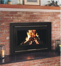 YN 090 modern metal wood burning fireplace insert