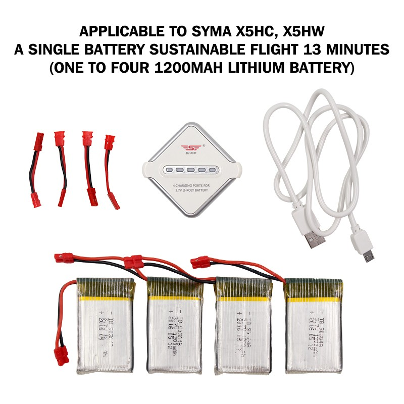 Rc Quadcopter 4port Charger For Syma X5hc X5hw With 37v 1200mah. Wiring. Drone Syma X5hw Wiring Diagram At Scoala.co