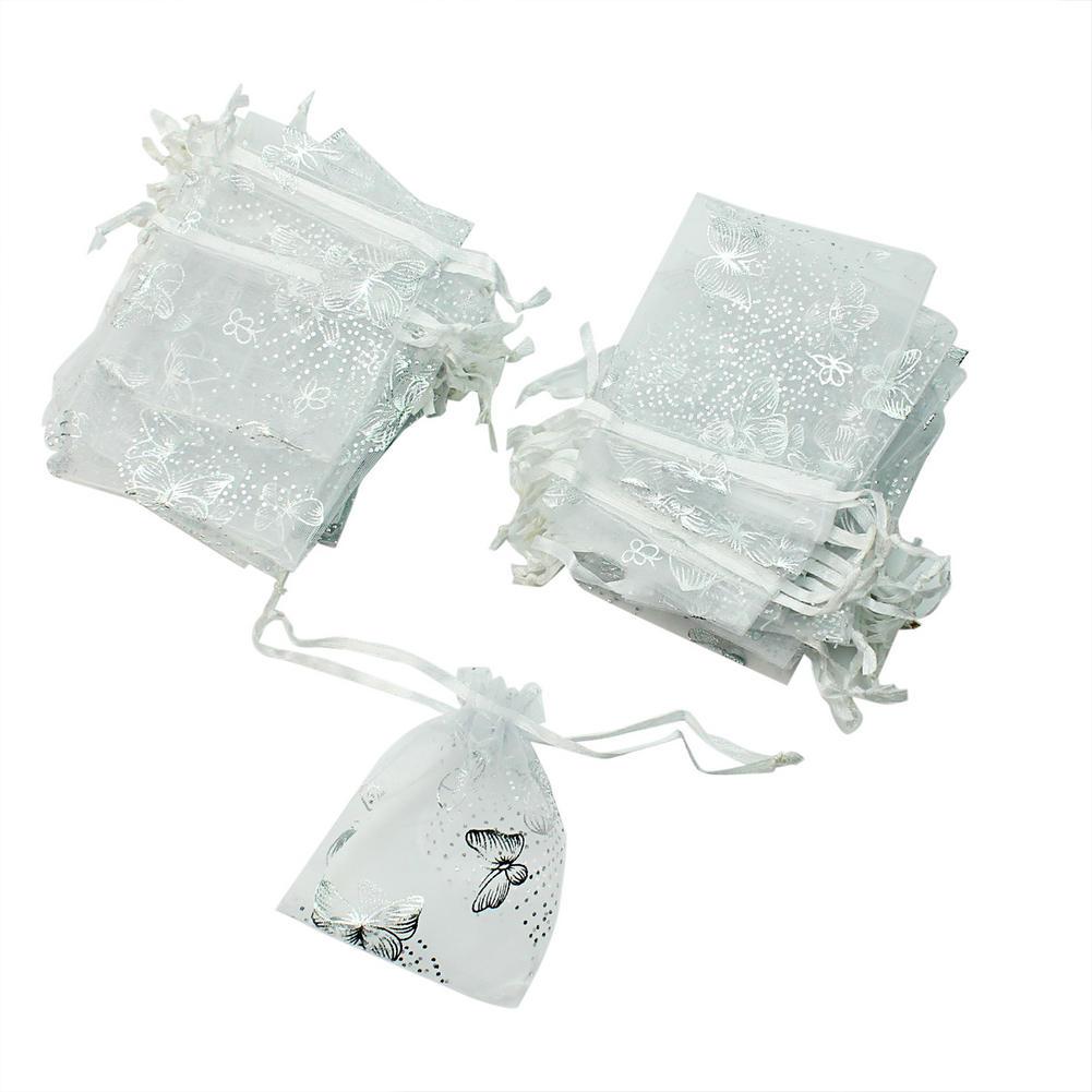 7ada6550d 50 piezas Super bolsa de Organza boda fiesta dulces de regalo de la ...