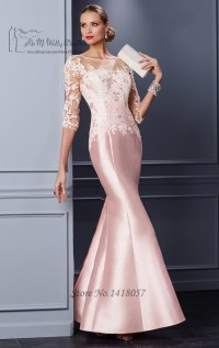 Pink Formal Mother Groom Evening Gowns 2016 Lace Mothers