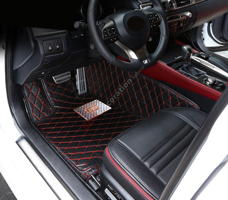 For LEXUS GS300/350/450 L10 2012   2015 Car Leather Floor Mat Pad Carpet  Foot Mat Full Set