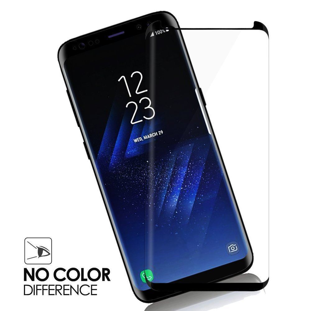 JGKK Case Fit 3D Curved Glass For Samsung Galaxy S8 S9 Plus Tempered Glass Case Friendly Screen Protector For S8 plus S9 Shield