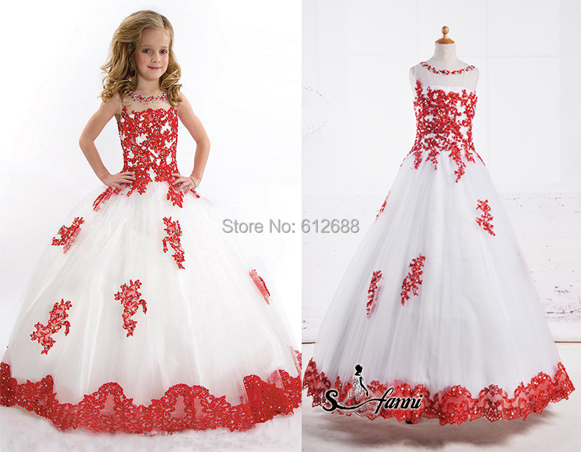 Beauty Pageant Dresses For Little Girls Scoop Tank Crystal
