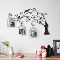 Metal Wall Art Bird Cages - h Wall Decal