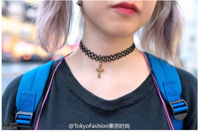 e1acf86802c2 ᑎ‰Moda vintage Gothic punk estilo gargantilla colgante collar mujer ...