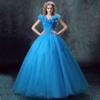 Elegant Prom Dress Shoulder Organza Ball Gown