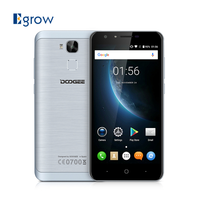 Original Doogee Y6C MTK6737 Quad Core Android 6.0 Mobile Phone 5.5 Inch Cell Phone 2G RAM 16G ROM 8.0MP Front Camera Smartphone