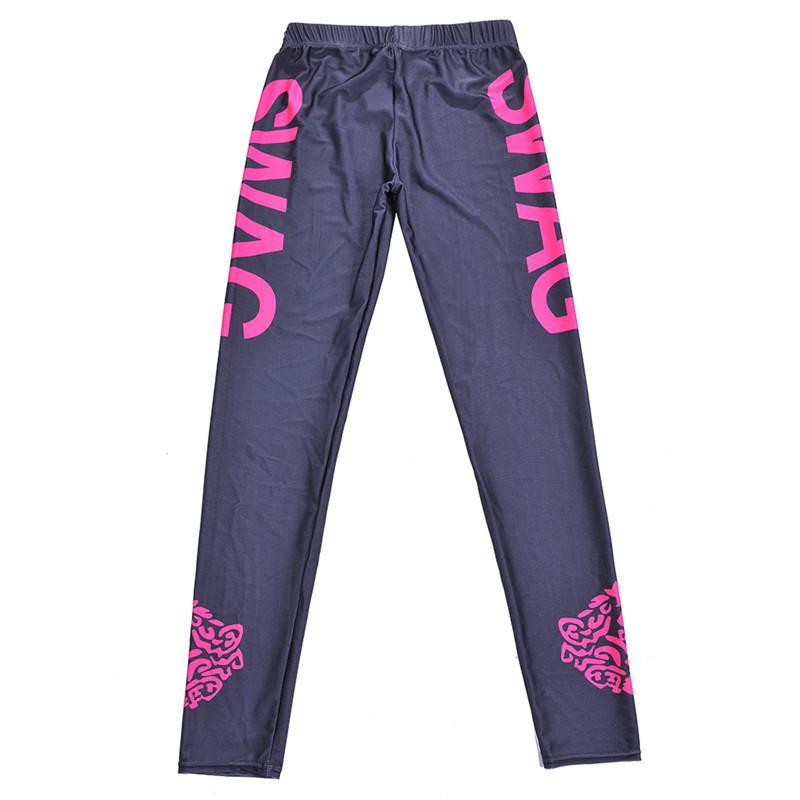 cc001c98dc4d8 Delgado Pantalones de yoga mujeres de alta cintura gimnasio deportes ...