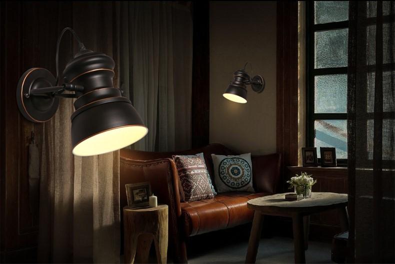 Iwhd nordic stile loft vintage lampada da parete per la casa