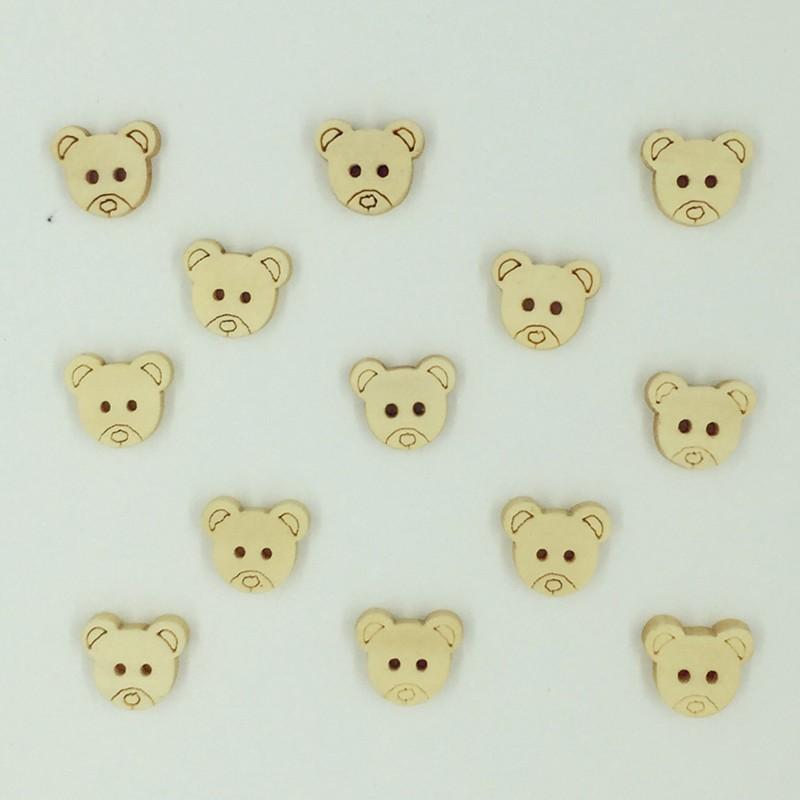 ③Venta caliente 100 unids clásico cabeza de oso de dibujos animados ...