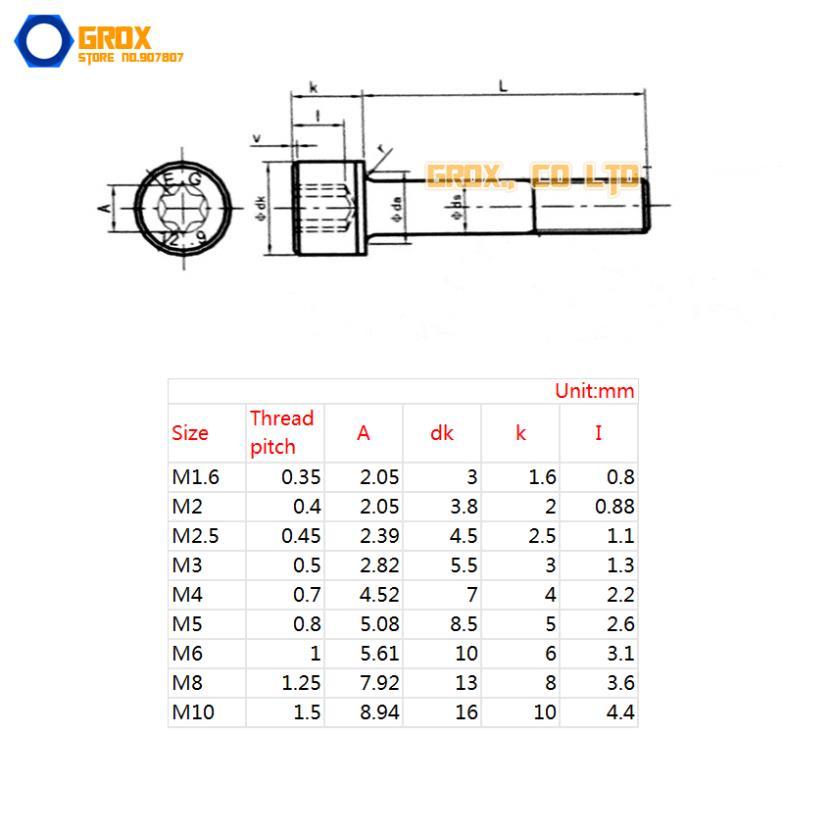 Cnbtr Noir M3/en acier au carbone /à t/ête frais/ée /à t/ête plate Hex Socket Cap Boulons Vis M3/x 6/mm lot de 100
