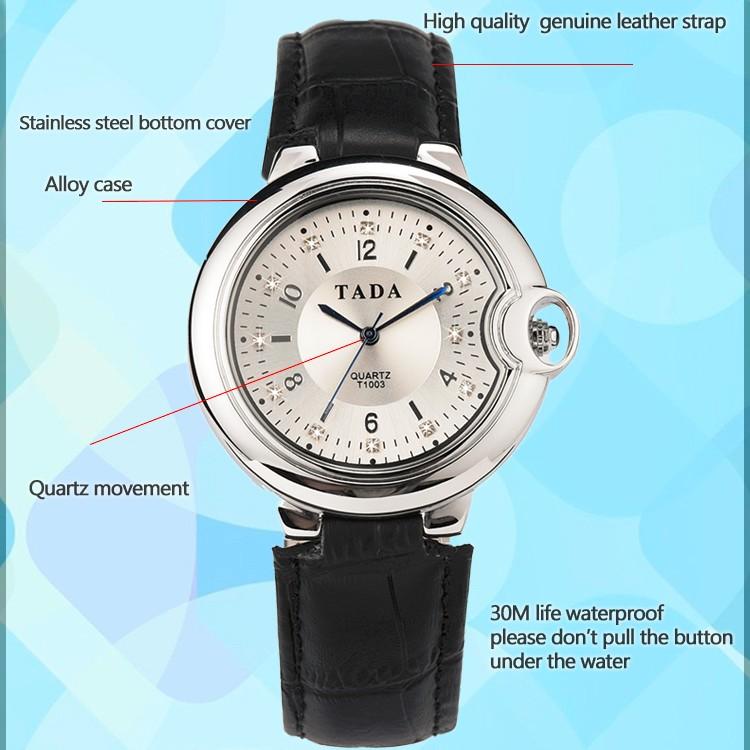 dd8d1966b1d ⊹Tada marca mujeres vestido relojes 3atm impermeable Cuero ...