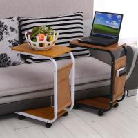 Simple sofa laptop desk with wheels to facilitate small ...