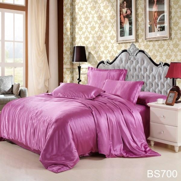 Cheap Luxury Bedding Sets Silk Quilt Duvet Cover 3pcs Twin 4pcs King Queen Size Pure Color