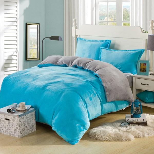 Coral Fleece Bedding Set