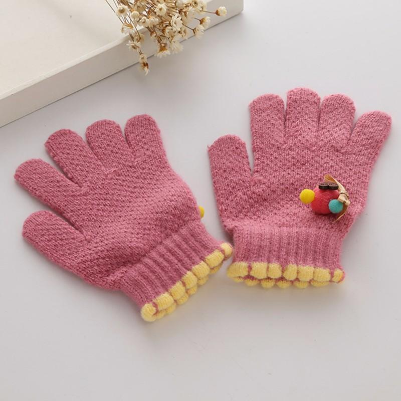 ღ Ƹ̵̡Ӝ̵̨̄Ʒ ღCute Children Girls Gloves Knitting Pattern Warm ...