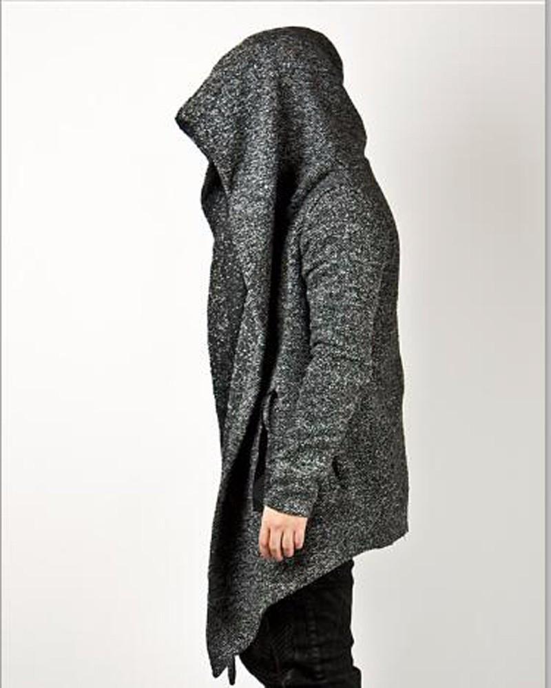 Nuevos mens casual lana desgaste estilo vanguardista diabólica de carbón  campana capa moda para hombre Tops chaqueta Outwear mens capa ropa b3c137bdd8b0